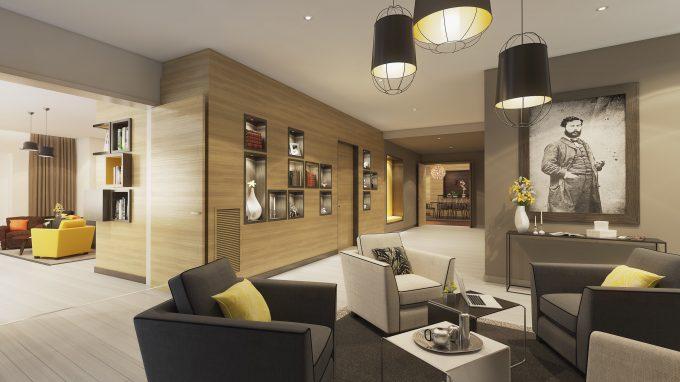 Salon commun de la résidence seniors COGEDIM Club à Suresnes