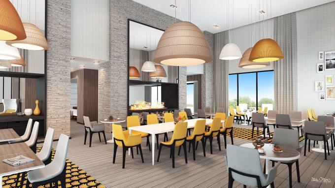 Restaurant de la résidence pour seniors COGEDIM Club Bordeaux L'Esprit des Quais