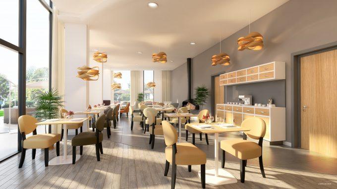 Restaurant de la résidence pour seniors Le Domaine du Cèdre COGEDIM Club