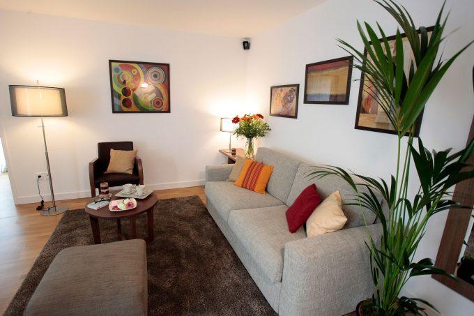 Salon d'un appartement de la résidence Cour de Lys