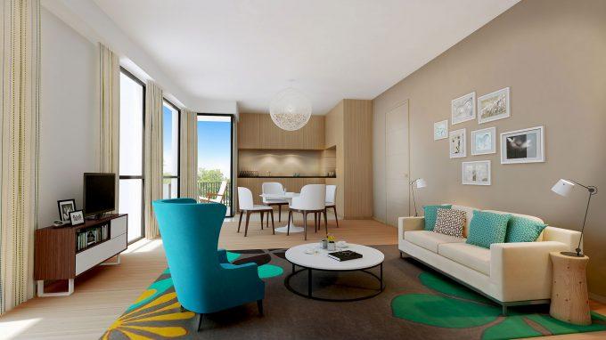 Appartement de la résidence seniors L'Esprit des Quais Bordeaux