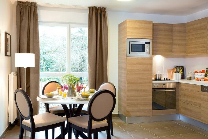 Cuisine d'un appartement de la résidence Le Jardin d'Aragon COGEDIM Club