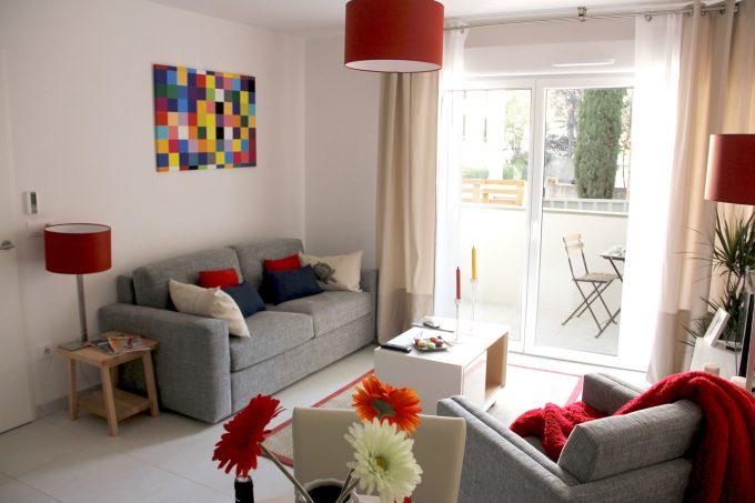 Appartement de la résidence seniors Villa d'Hélios Montpellier