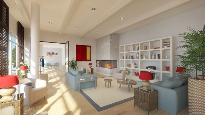 Espace commun de la résidence pour seniors Villa d'Hélios Montpellier